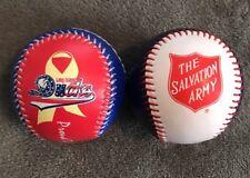 Lot Of 2 Long Island Ducks Salvation Army & Grumman Promo Baseballs SGA Ball Day
