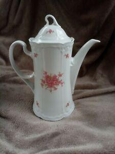 Kaffeekanne Seltmann Weiden Bavaria Porzellan Julia rosa Blumen