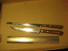 Vintage Set of 2 Flint Arrowhead USA Stainless Kitchen Knives