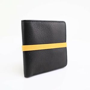 NEW Marc by Marc Jacobs Men's Leather Wallet w Elastic Band Black Orange