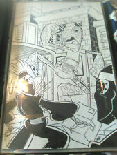 TMNT comic original art LOOK !! Splash page Napoleon Bonafrog fights Foot Clan!