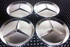 4 pcs, Wheel Emblem Center, Hub Caps, MERCEDES Benz, Chrome Mirror, 75mm