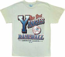 Men's 47 Brand Vintage Tubular New York Yankees Tan Mlb Baseball T-Shirt Tee