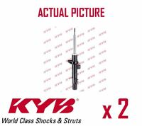2 x FRONT AXLE SHOCK ABSORBERS PAIR STRUTS SHOCKERS KYB OE QUALITY 334828