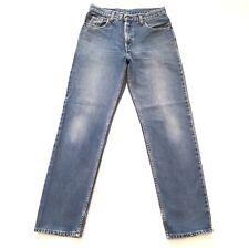 LEVIS Mens 504 Blue Denim Jeans Straight Leg Sandblasted Size W 32 L 32 Waist 30