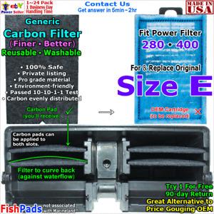 For Aquarium Power Filter Cartridge 280, 400, Size E Compatible Carbon Filter