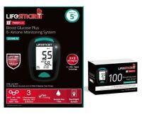 Lifesmart Blood Ketone Meter Monitoring Kit LS-946N & 100 Glucose Test Strip