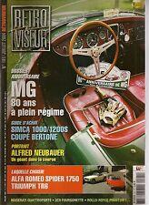 RETROVISEUR 191 DOSSIER MG MASERATI QUATTROPORTE ALFA SPIDER 1750 TRIUMPH TR6