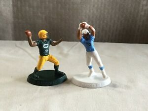 2 McDonald's 2014 NFL Madden Football Figurine Green Bay Packers Tennesse Titans