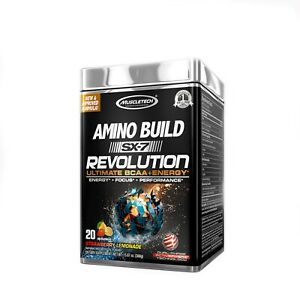 MUSCLE TECH AMINO BUILD SX-7 REVOLUTION ULTIMATE BCAA ENERGY STRAWBERRY LEMONADE