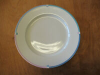 "Mikasa Bone China JET SET L5543 Dinner Plate 10 7/8"" Blue Pink     5 available"