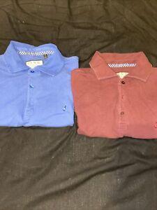 Thomas Pink Polo Shirts X2 With Fox Logo