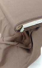 "BROWN PLAIN 100℅ COTTON POPLIN FABRIC 44"" wide sold/PER METRE/"