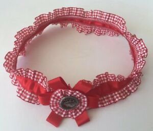 Hutband rot für Trachtenhut Hut neu Tracht Damenhut Hirschanstecker