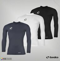 Mens Sondico Mock Neck Long Sleeves Logo Baselayer Top Sizes from S to XXXL