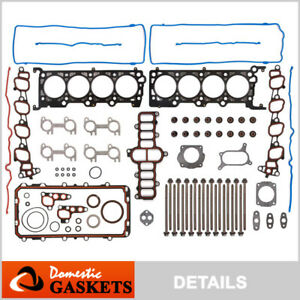 Fits 2001 Ford Crown Victoria Expedition F-150 E-150 4.6L Full Gasket Set Bolts