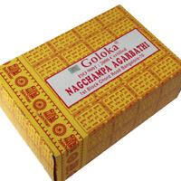 Räucherstäbchen Goloka Nagchampa Gelb 12x16g  Nag Champa Incense Box Agarbathi