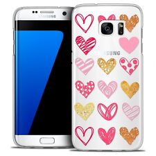 Coque Crystal Pour Galaxy S7 Edge Extra Fine Rigide Sweetie Doodling Hearts