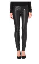 NWT $1295 MAJE 'Daft' Lambskin Leather Pants Size 40
