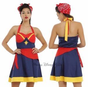New Her Universe Women Of Marvel Captain Marvel Cosplay Halter Dress JRS XS