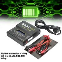 B6AC 80W Digital LCD RC Lipo NiMh Liion Battery Balance Charger Discharger Black