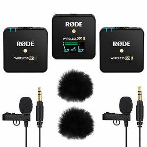 Rode Wireless GO II Mikrofon-Funksystem + 2x Lavalier GO + 2x Windschutz