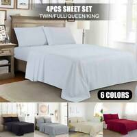 Luxury Bed Sheet Set 400 Thread Count 100% Pure Cotton 4 Pcs Sheet Set King Size