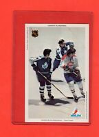 1971-72 Canadiens Dave Keon/Marc Tardif/Baun  Pro Star NHLPA Postcard Nrmnt-Mt