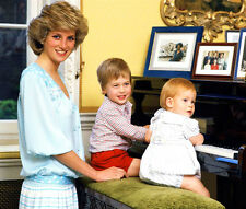 Princess Diana, Prince Harry and Prince William UNSIGNED photo - D350
