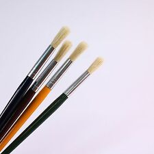 Childrens Paint Brush Set 4 Thick Brushes Size 12 or 18 Coloured Handles Pack