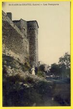 cpa 42 - ST HAON le CHÂTEL (Loire) Les REMPARTS Village médiéval Fortifications