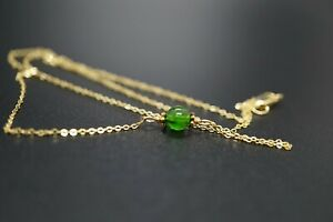 Gold-filled Chain Chrome Diopside Choker Necklace 16.5'' Stacking Necklace Woman