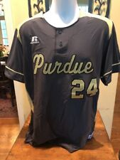 AUTHENTIC PURDUE BOILERMAKER TEAM ISSUED BASEBALL JERSEY VINTAGE SZ L