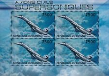 TUPOLEV Tu-144 Russian Supersonic Airliner Aircraft Stamp Sheet 2 (2012 Burundi)