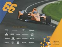 2019 Fernando Alonso McLaren Chevy Dallara Indy 500 Indy Car postcard