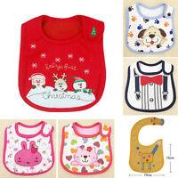 Lovely Toddler Infant Kids Animal Pattern Saliva Towel Waterproof Lunch Bibs AU