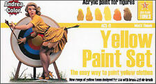 Andrea Miniatures AND-ACS-011 Andrea Color Yellow Paint Set