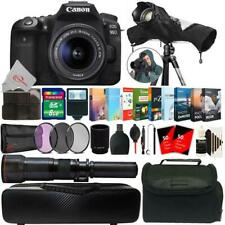 Canon EOS 90D 32.5MP DSLR Camera + 18-55mm & 650-1300mm Lens Accessory Kit