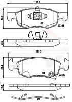 Allied Nippon Front Brake Pad Set ADB32301  - BRAND NEW - 5 YEAR WARRANTY