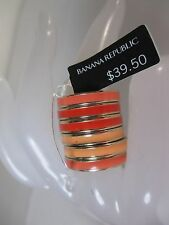 Banana Republic Peach Enamel Stackable RIng Sz 5 NWT $39.50
