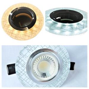 Glas einbaustrahler einbauspot Eckig mit LED Klickverschluss Kaltweiß,Warmweiß