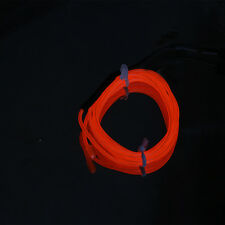 1/4/5m LED 12V Neon Light Glow EL Wire Rope Tube Car Decorative Light Strip N GF