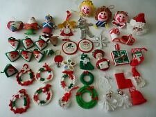 Handmade Finished Christmas Ornament Lot Crochet Plastic Canvas X-Stitch (43)pcs