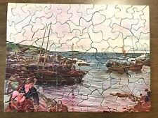 Vintage Mini Jigsaw Puzzle - Home With The Tide - 1950s