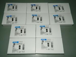 LOT OF 10 NEW EATON CUTLER HAMMER BRCAF115QN 15AMP AFCI ARC FAULT BREAKER IN BOX