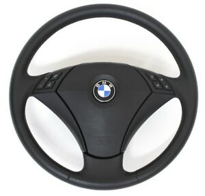 Genuine BMW 5 series E60 E61 Leather Steering Wheel Lenkrad 74k km