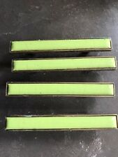 Lot Of 4 Green Porcelain Drawer Pulls Mid Century Modern Retro Vintage