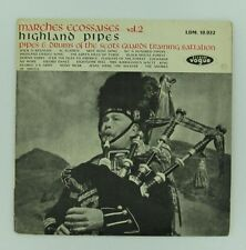 SCOTTISH MARCHES LP Vol 2 Highland Pipes + Drums VOGUE Scots Guards Training
