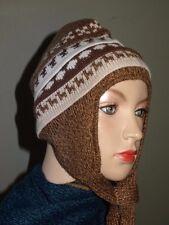 New  Fine Alpaca  Wool Hat Chullo Ski  PERUVIAN -Peru   Women's M/L