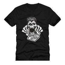 skull greaser rockabilly vegas vintage gambler   dtg mens t shirt tees